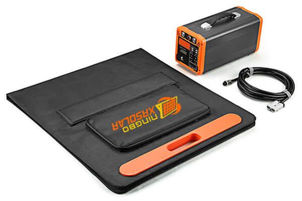 XRSOLAR 100Watt Foldable Solar Panel Charger Kit for Portable Generator